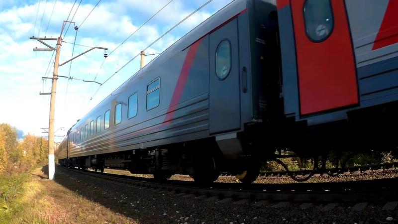 ЭП20-033 с поездом№740А Брянск-Москва перегон Латышская-Нара (по неправильному) 24.09.2019