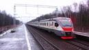 Электропоезд ЭП2Д в Серпуховских глухоманях на 92 км