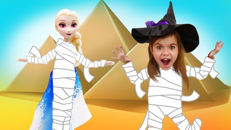 Игры для девочек - Спасаем Эльзу из Холодного Сердца! Ведьмочка Юлли в пустыне – Видео для детей.