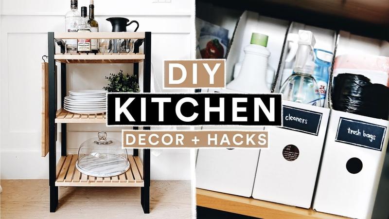 DIY IKEA KITCHEN DECOR ORGANIZATION HACKS Modern Farmhouse Lone Fox
