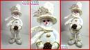 Muñeco de Nieve con Sombrero de Copa Paso a Paso