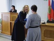 Татьяна Голикова вручила сертификаты пяти липецким семьям
