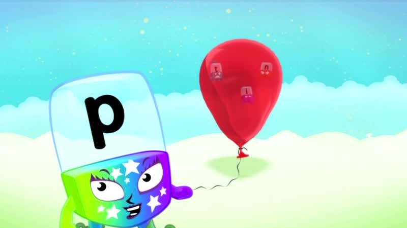 """Meet The Alphablocks - """"P"""" Pops By (Red Learning Level Step 1)"""