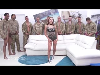 Рота солдат разъебали девочке попку порвали рвут в анал очко попу жопу анус зад толпой пустили по кругу порно секс gangbang anal