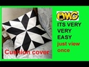 10 MINUTE MAKING ! DIY Cutting and stitching of square cushion cover /envelope pillow cover making