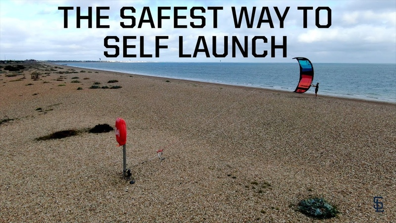 How to self launch land a kite THE SAFEST WAY