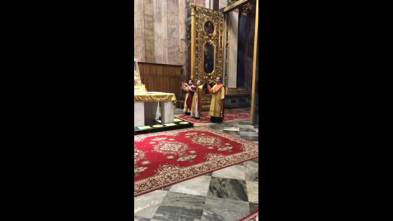 Live Приход Исаакиевского собора