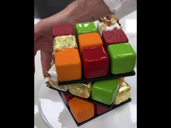 RUBIK'S CAKES by Pastry Chef Cédric Grolet