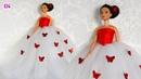 Шьем платье с бабочками для Куклы Барби