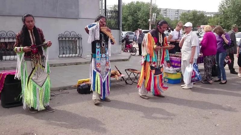 Музыканты из Эквадора в Минусинске