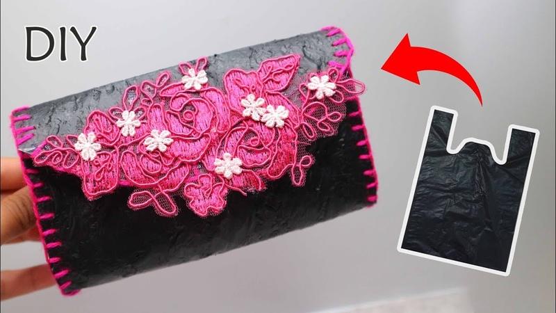 Dompet dari KRESEK bekas | Tas dari Kresek | Pouch from used plastic bags | Reuse plastic bag