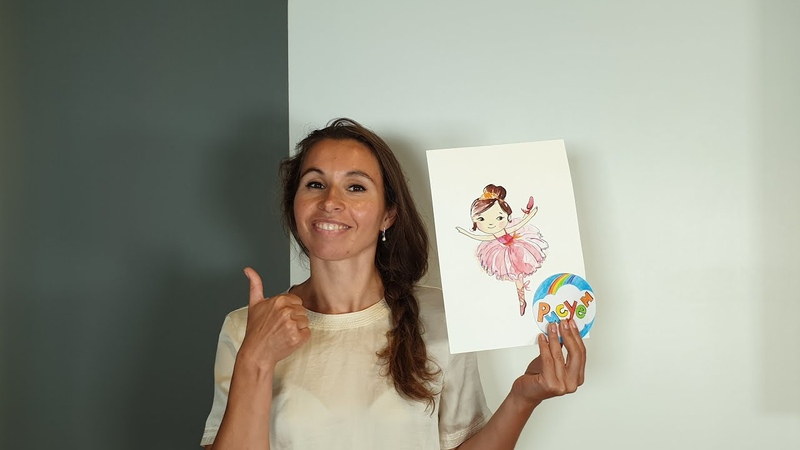 Рисуем Балерину Как нарисовать танцующую девочку