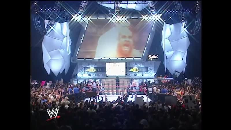 WWE RAW Goldberg vs Randy Orton 18 08 2003