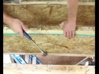 Как собирают пол в каркасном доме
