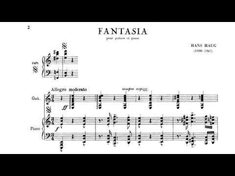 Hans Haug Fantasia for Guitar and Piano Score video