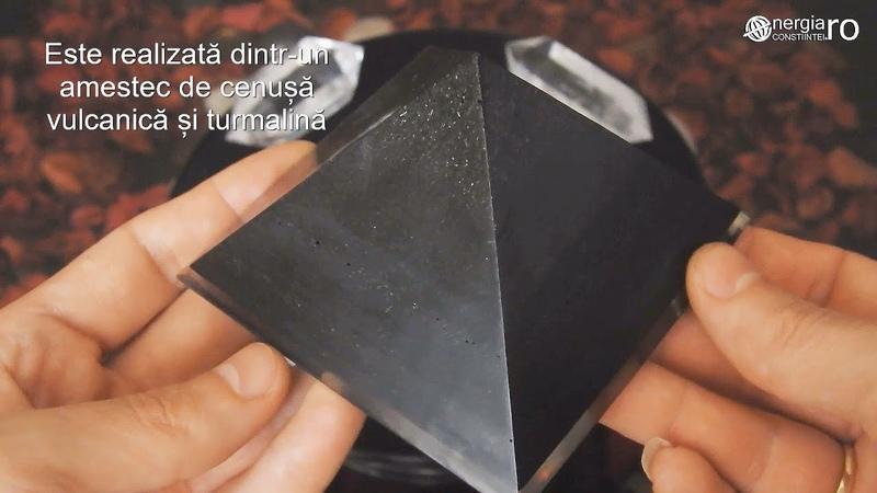 Piramidă Orgonică, Energetică din Cenușă Vulcanică și Turmalină - cod ORG052