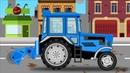 Мультики про машинки. Трактор и его работа.