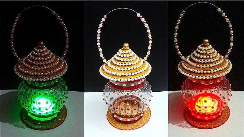 How to make Lantern Lamp Tealight Holder from Plastic Bottle DIY Lamp Lantern using recycle material