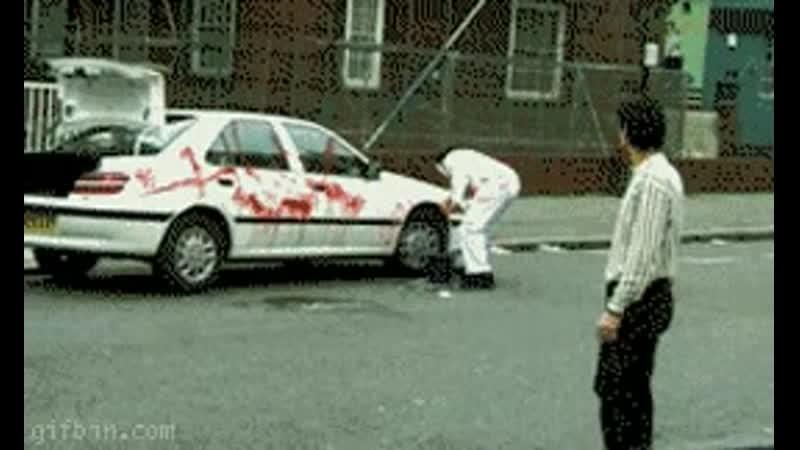 Fake blood prank