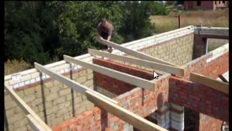 Секреты строительства. Двухскатная крыша