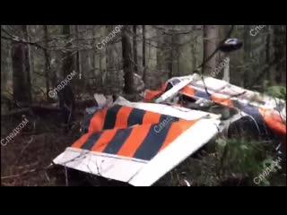 Следователи опубликовали видео с места крушения частного самолета в прикамье