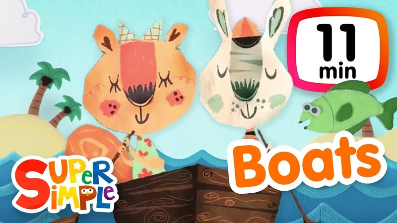 Kids' English | The Super Simple Show - Boats | Cartoons For Kids