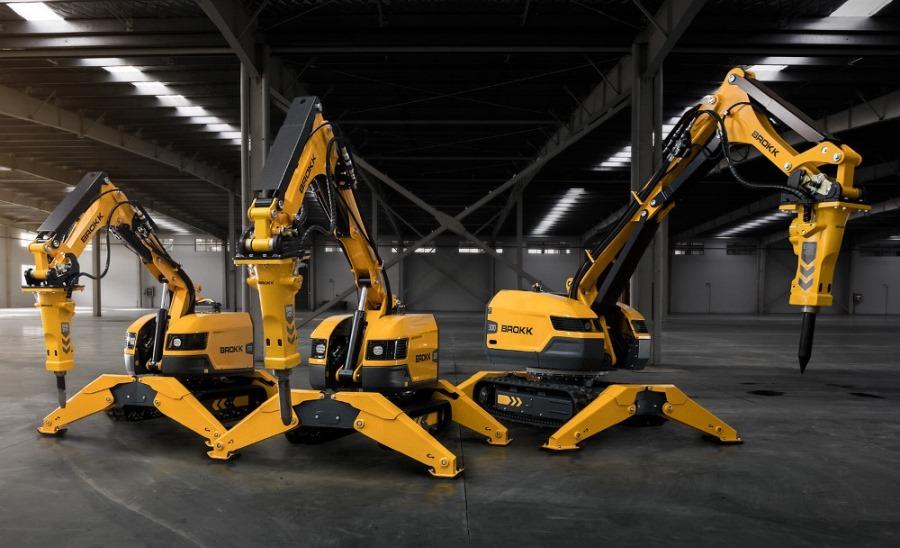 Роботы-манипуляторы Брокк для разрушения материалов