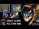 550 AGI Level 30 Megacreep Def New Scepter 7 23 Slark Most Crazy Rapier Comeback vs Brood Dota 2
