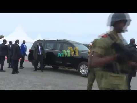 Museveni breaks the presidential security protocol while at Chato Airport Tanzania