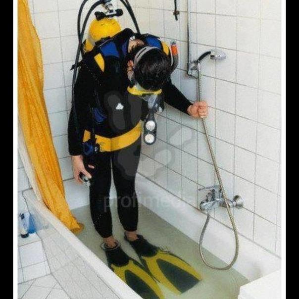 Смешная картинка водолаза