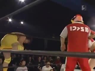 Joe Doering amp Kaz Hayashi amp Kana (ASUKA) vs. Nobutaka Araya amp Kikutaro amp Apple Miyuki () (1)