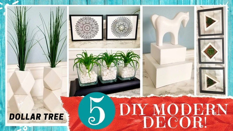 5 DOLLAR TREE MODERN STYLE HOME DECOR DIY 5 Easy Quick Projects Simple Clean Minimalist Looks