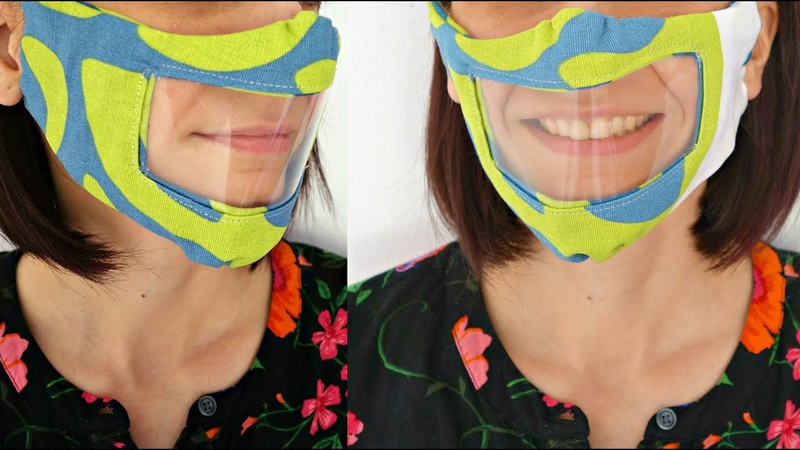 DIY reusable face mask with clear window for the deaf and hard of hearing Maison Zizou