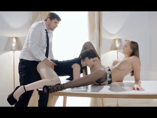 Mia Evans with Lutro anal gift for Stacy Cruz [Lesbians, Natural Tits, High Heels, Stockins, Lingerie, Sex Toys, FMM, Threesome]