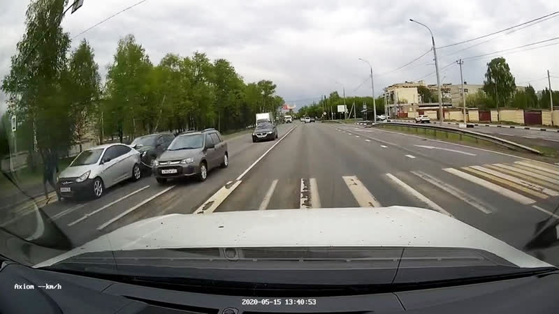 Пешеход везунчик
