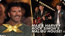 Max Harvey shake off nerves to rock Simon Cowell's Malibu home! | X Factor: Celebrity