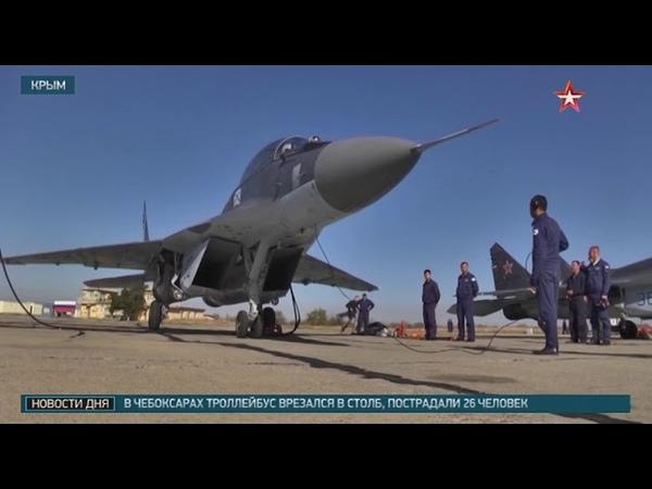 Летчики отработали взлет и посадку на палубу «Адмирала Кузнецова»: кадры тренировки