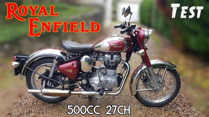 Test Cette moto a failli me tuer Royal Enfield Classic 500 chrome de 2013