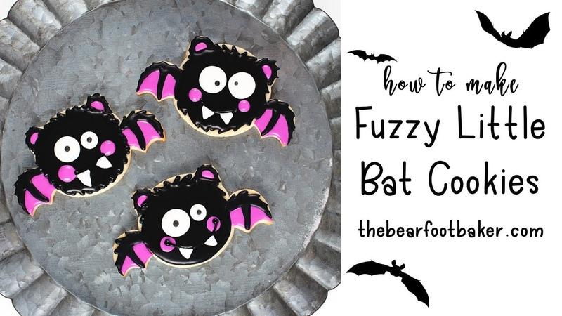 Fuzzy Little Bat Cookies | The Bearfoot Baker