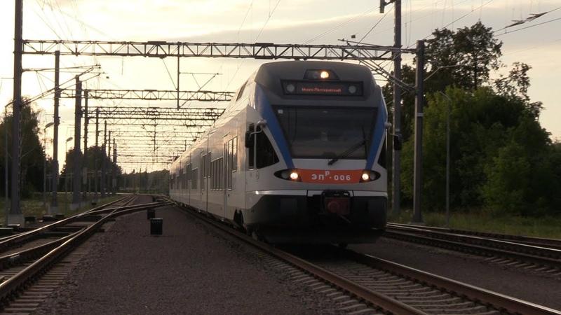Электропоезд ЭПр 006 на ст Кивишкес EPr 006 EMU at Kyviškes station