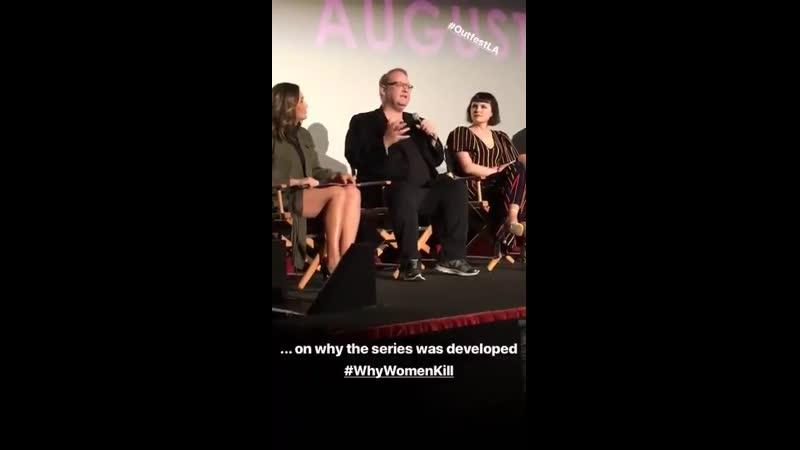 No painel do OutfestLa o criador da série Marc Cherry comenta sobre o porquê de Why Women Kill ter sido criada 📷 outfest ht