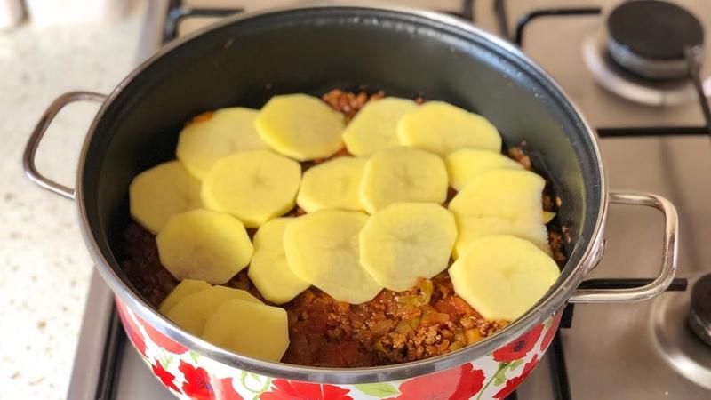 Akşama En Kolay Tencere Yemeği Fırın Kullanmadan Kıymalı Patates Oturtma Tarifi Seval Mutfakta