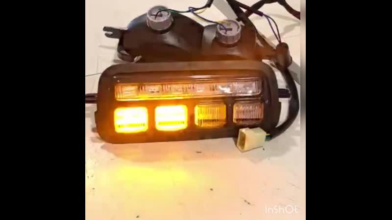 В продаже - ссылка в описаии. Надфарник НИВА 21214-3712010 21214-3712011 LED свет, c ДХО (комплект)