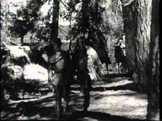 """THE IROQUOIS TRAIL"" George Montgomery, Brenda Marshall, Sheldon Leonard. 6-16-1950."