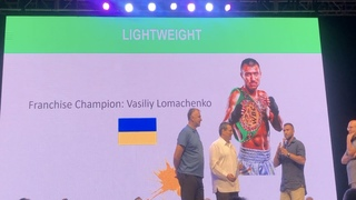 And the NEW WBC Lightweight Franchise Champion Vasiliy Lomachenko