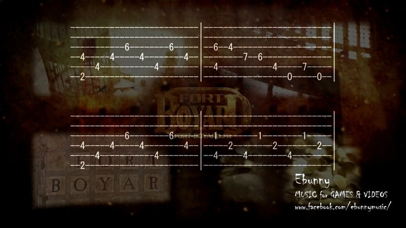 Fort Boyard Main Music Theme Full Acoustic Guitar Tab by Ebunny Fingerstyle How to Play