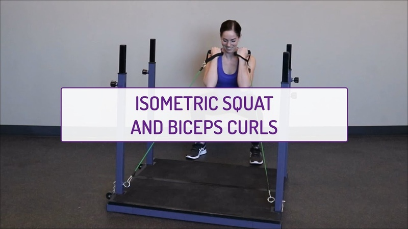 Home Exercises | Isometric Squat and Biceps Curls | Strength Endurance | Legs Biceps
