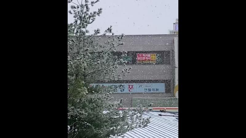 снег в Сосан 서산시