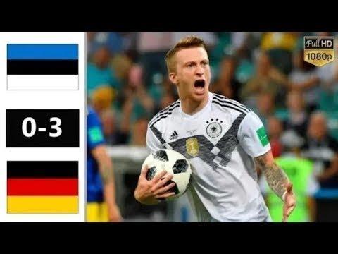 Estonia vs Germany 0-3 - All Goals Highlight 2019 HD
