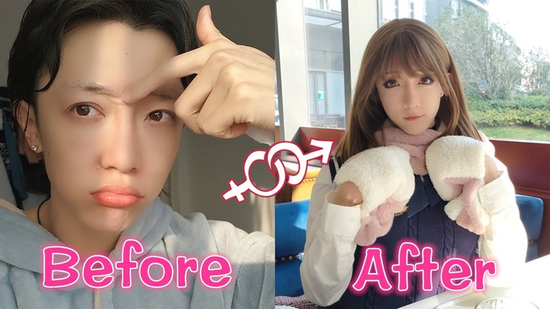 Boy to girl│A day at the coffee shop after crossdressing